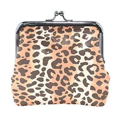 123998b5d Image Unavailable. Image not available for. Color: Leopard Print High Grade Leather  Coin Purse ...