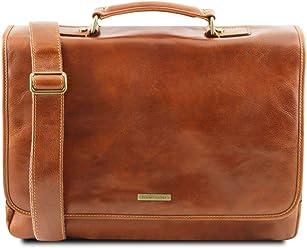 Tuscany Leather Mantova Cartella TL SMART multiscomparto in pelle con  pattella Miele 6a6e42bb043