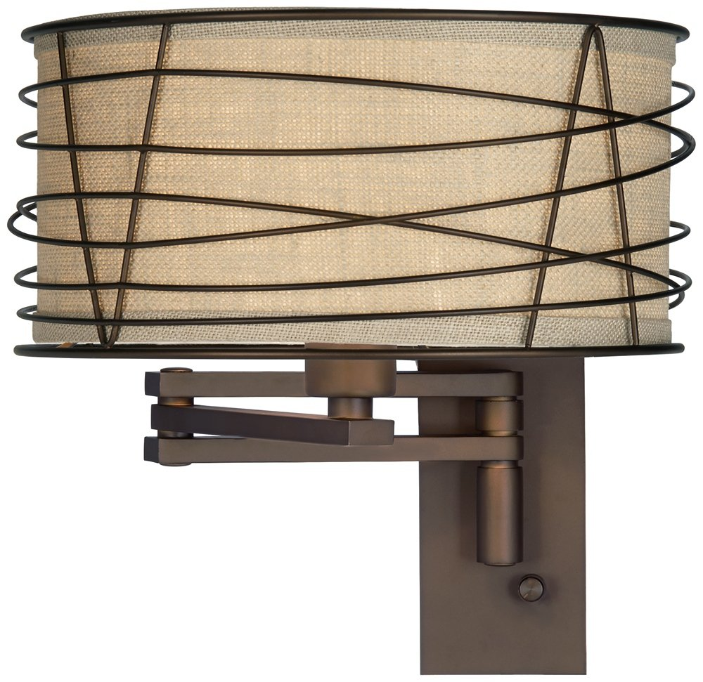 Franklin Iron Works Marlowe Bronze Metal Swing Arm Wall Lamp     Amazon.com
