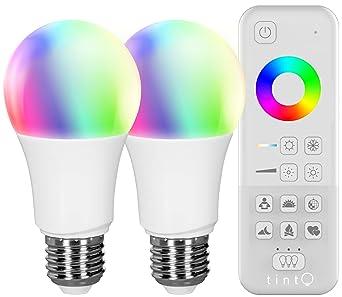 Müller-Licht – Tint Starter Juego de 2 – Bombilla LED E27 Con Mando A