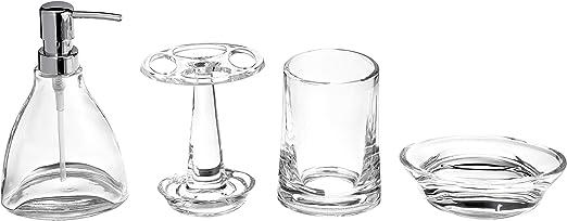 Set di accessori da bagno Basics Glacia 4 pezzi