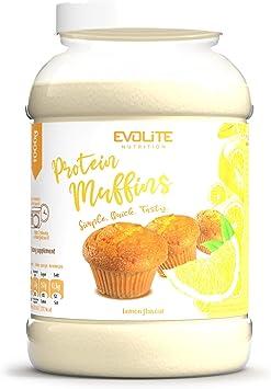 Evolite Muffin de proteínas - Muffin dietético rico en proteínas, fácil de hacer - 1000 g (limón)