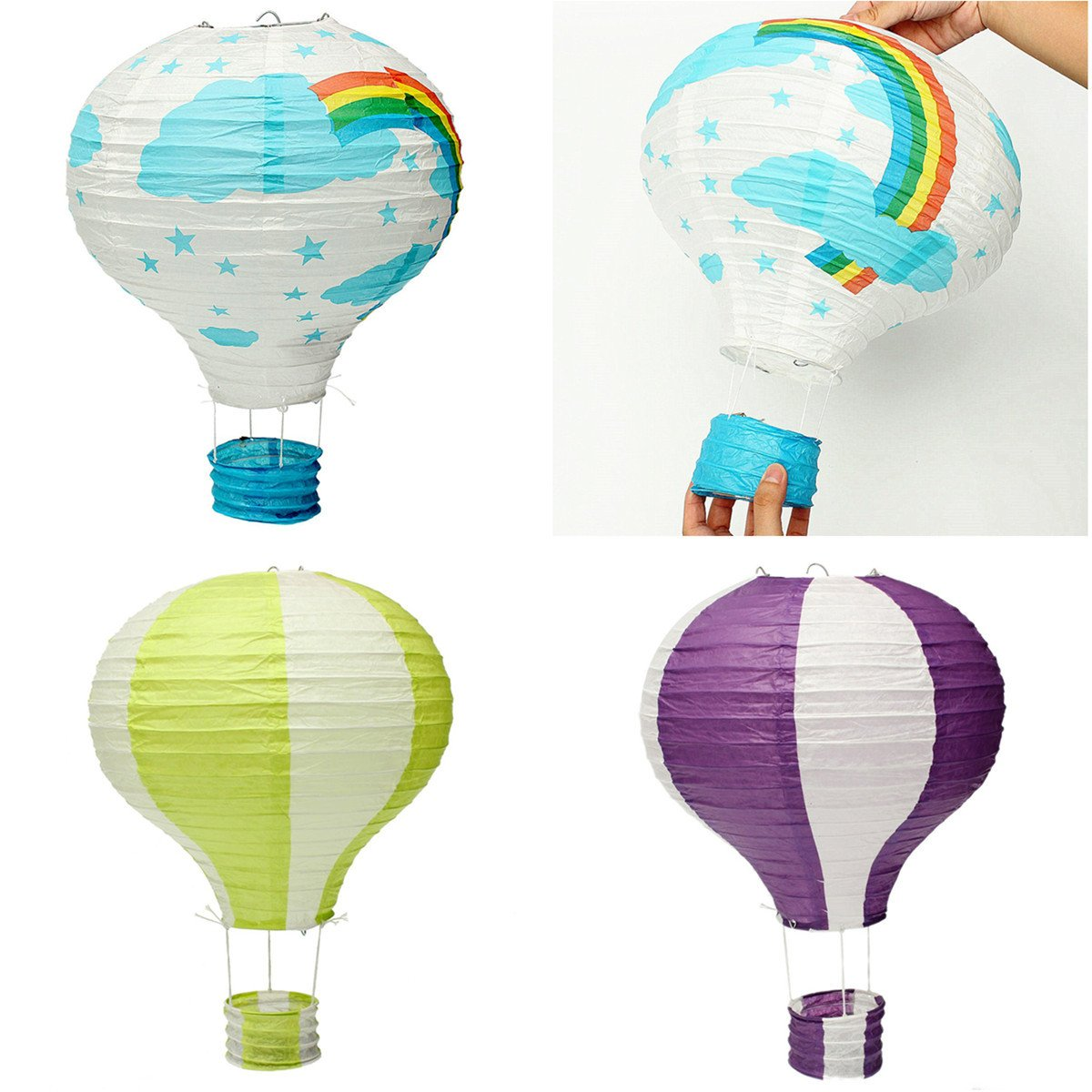 HITSAN Air balloon Air Balloon paper lanterns wendding party festival colour decorate One Piece