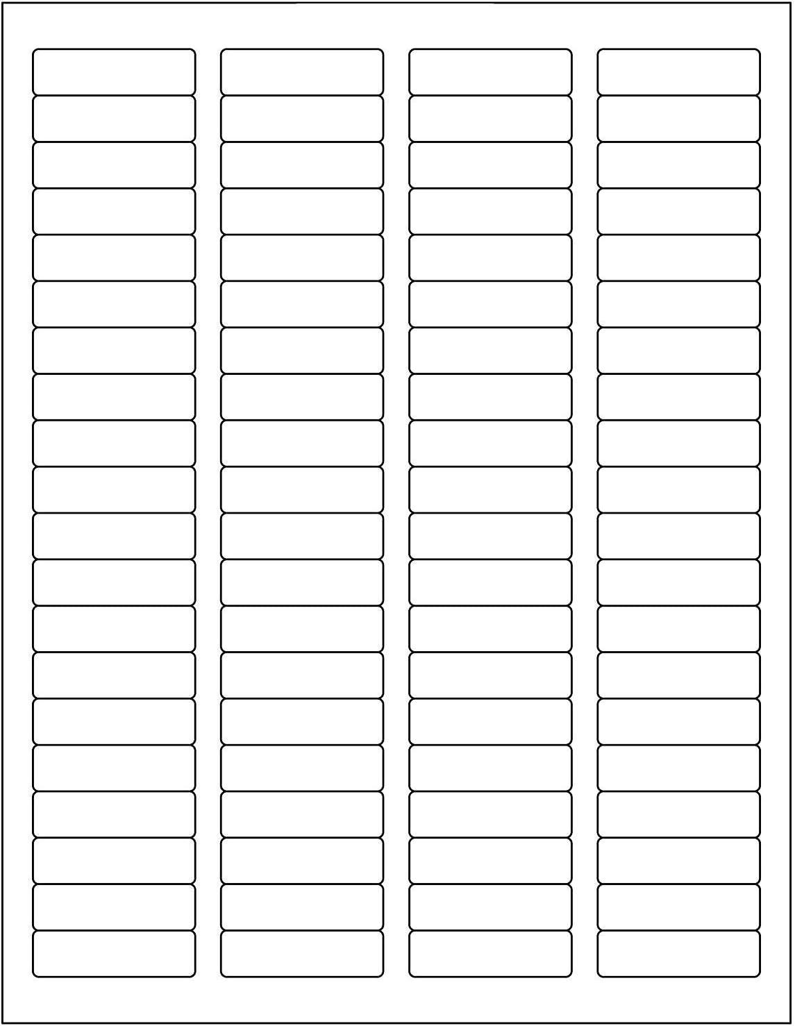 "BESTeck White Laser Inkjet 1.75""x0.5"" Return Address Mailing FBA Labels 80-UP 80 Labels Per Sheet (100 Sheets) : Office Products"