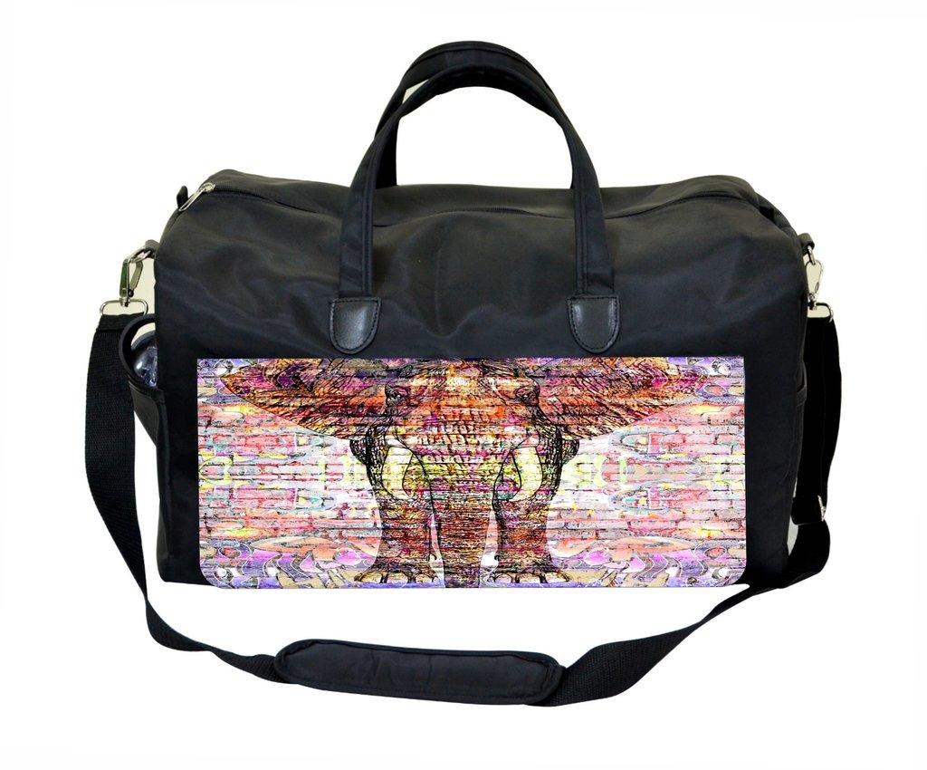 Jacks Outlet Elephant Graffiti Gym Bag