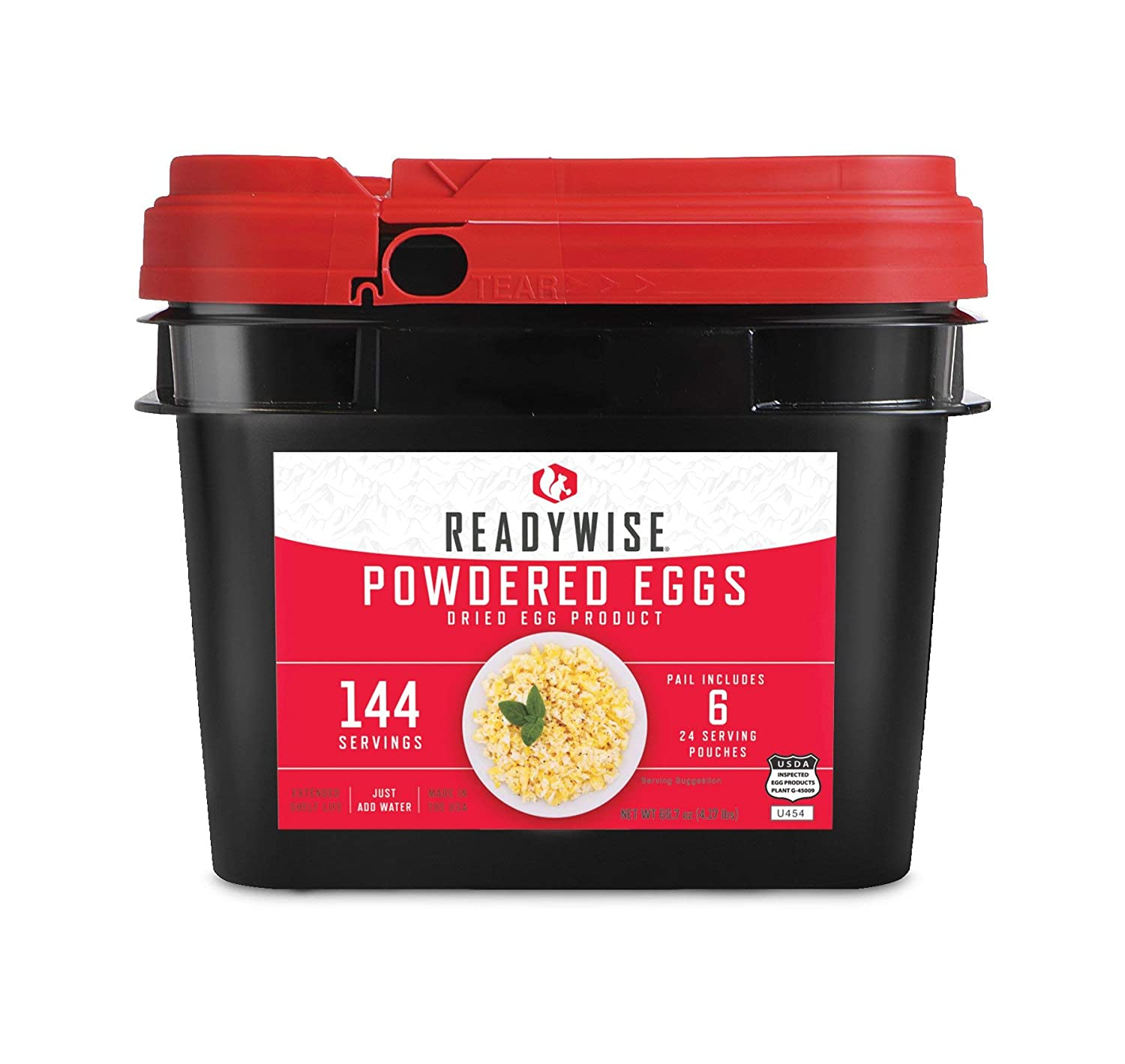 Wise Company, Emergency Food Supply, Powdered Egg Bucket, 144 Servings