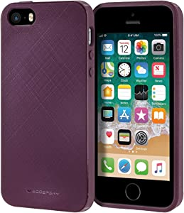Goospery Style Lux Jelly for Apple iPhone SE Case (2016) iPhone 5S Case (2013) iPhone 5 Case (2012) Thin Slim Bumper Cover (Purple) IP5-STYL-PPL