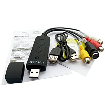 Easyday EasyCAP USB 2 0 TV DVD VHS RCA S-Video AV Grabber Capture Audio  Adapter Convert