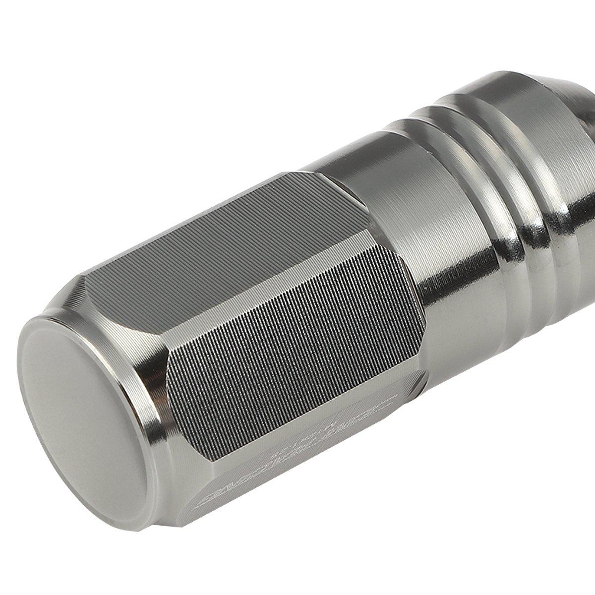 Deep Drive Extension Closed End Design 20-Piece M12 x 1.25 Aluminum Alloy Wheel Lug Nuts Wheel Lug Nuts Gun Metal