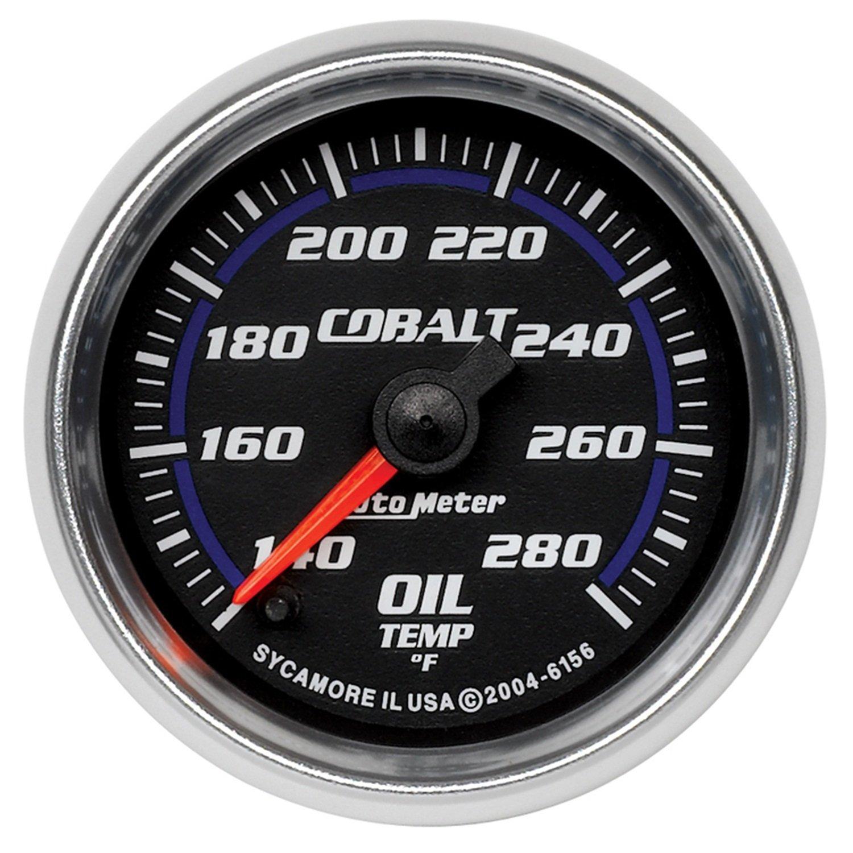 Auto Meter 6156 Cobalt 2-1/16' 140-280 F Full Sweep Electric Oil Temperature Gauge