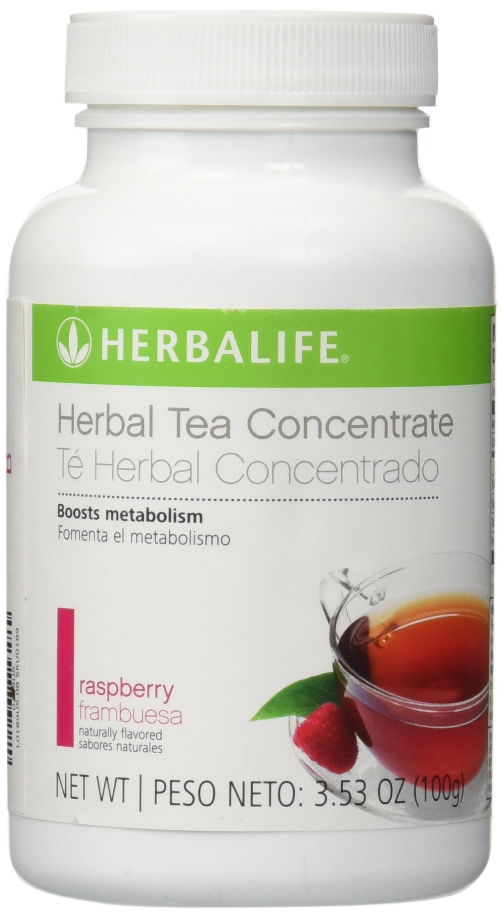 Herbalife Herbal Concentrate Tea (Raspberry Flavor 3.5oz) by Shapeworks