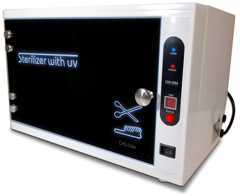 JJ CARE UV Sterilizer for Salon, UV Light Sanitizer Box, UV Sterilizer Machine with Stainless Tray for Spa and Beauty Tools, Salon Tool Tabletop Sterilizer Cabinet