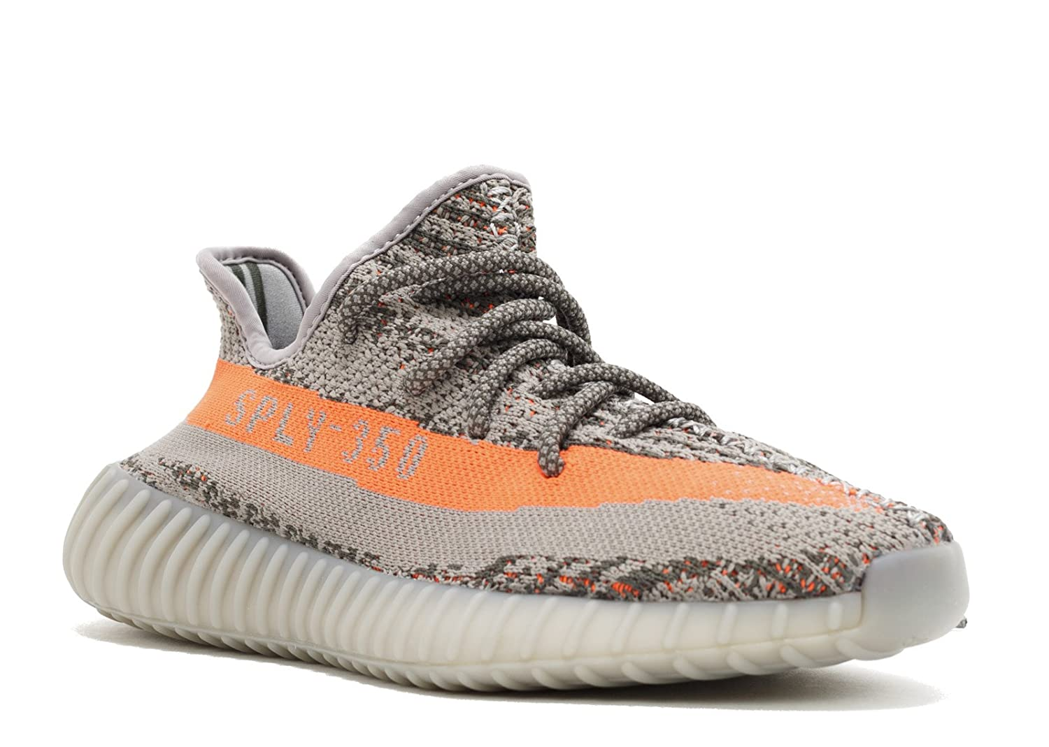 hot sale online 64559 98a3f adidas Mens Yeezy Boost 350 V2 Beluga Grey/Beluga-Solar Red Fabric Size 4
