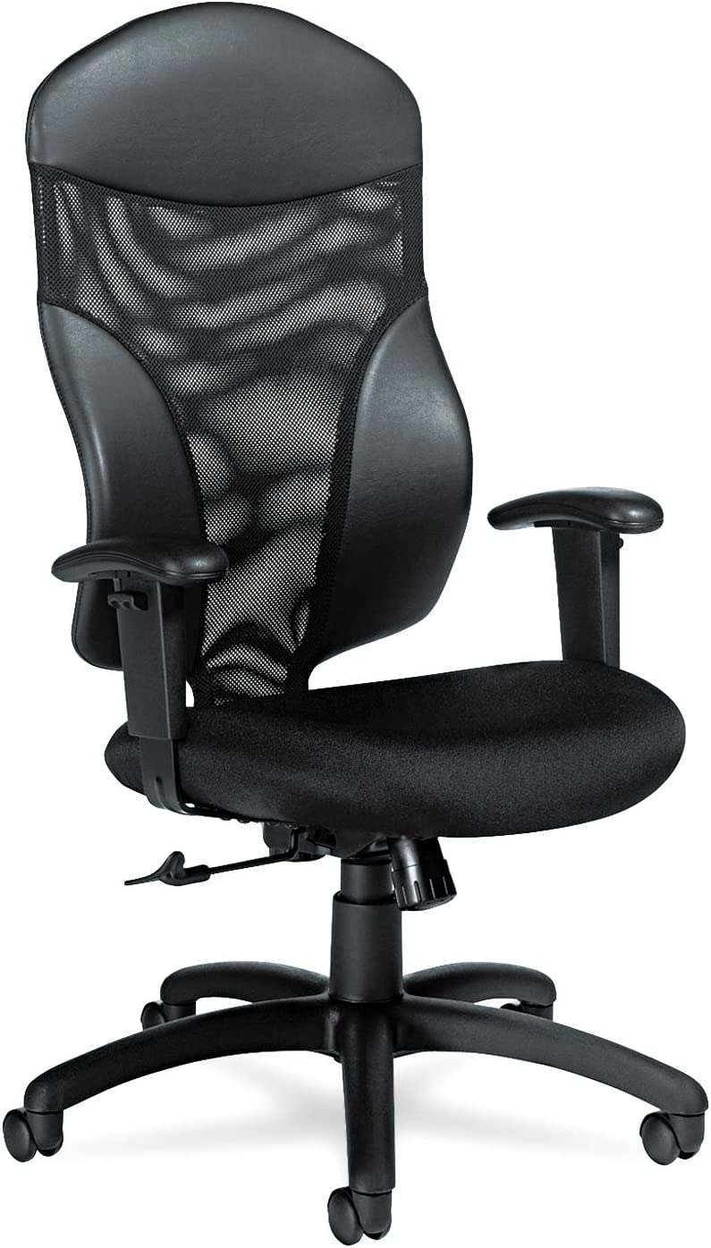 Global Tye Mesh Management Series High-Back Swivel Tilt Chair, Black