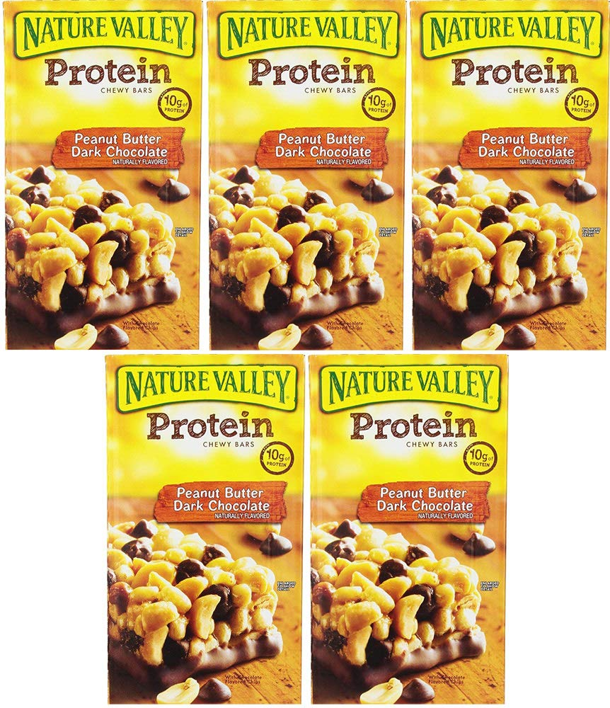 Nature Valley Protein Bars, Peanut Butter Dark Chocolate, 26 Bars (5 Boxes) by Nature Valley (Image #1)