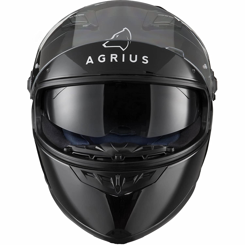 Agrius Rage SV Solid Motorcycle Helmet L Gloss Black