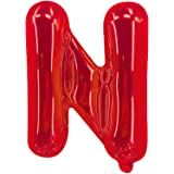 Party Time N Letter Foil Balloon, Red