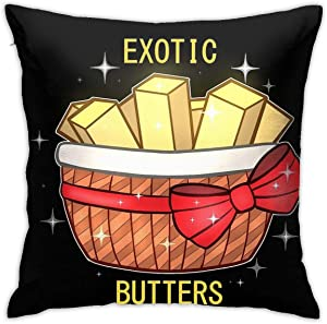 ZHUHOO FNAF Exotic Butters Bedroom Couch Sofa Square Pillow Case Home Decorative Throw Pillow Covers 18x18 Inch
