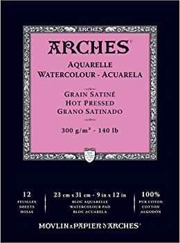 Arches Grain Hot Press Paper For Prismacolor Pencils