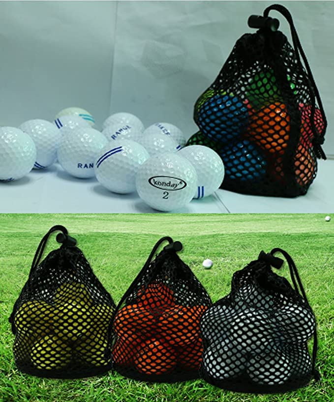 6458c23079 YJZQ Golf Tennis Balls Training Equipment Net Storage Bag Durable Nylon Mesh  Bag Pouch Lightweight Carrying Bag Tote Storage Sack with Drawstring  Closure ...