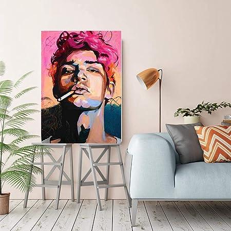 Olydmsky Cuadros dormitorios Modernos,Resumen Hombres Pintura Arte Pinturas, viviendo la Base Pintado Decorativo de huéspedes dormitorios (sin Bordes): Amazon.es: Hogar