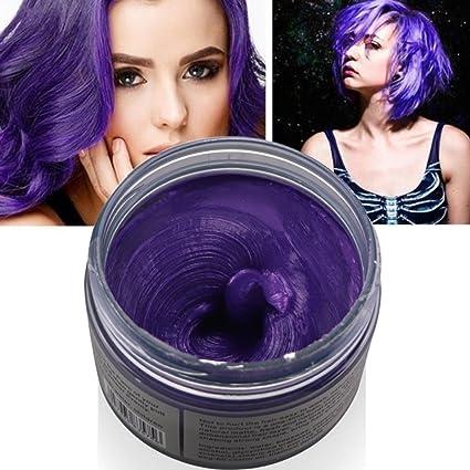 Coloración Semi-Permanente cera para cabello 7 colores Profesional tinte Unisex DIY tuercas Color de cabello Dye lodo tinte crema modelaje tinte Dye ...