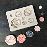 Roses Collection Fondant Candy Silicone