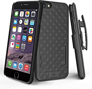WixGear iPhone 6 Holster, Shell Holster Combo Case for Apple iPhone 6 with Stand and Belt Clip (Not for iPhone 6 Plus)