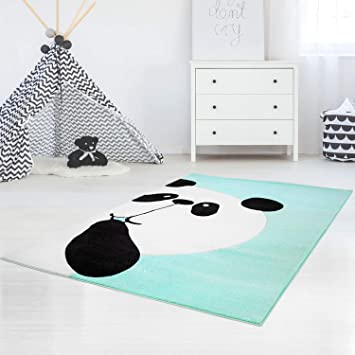 MyShop24h Tapis pour Chambre d\'enfant Motif Panda dans Une Porte ...