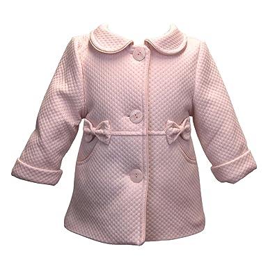 BIMARO Baby Mädchen Babymantel Lea Rosa Rose Taufmantel Mantel Jacke Baby  Hochzeit Taufe Festlich  Amazon.de  Bekleidung 22e72dc745