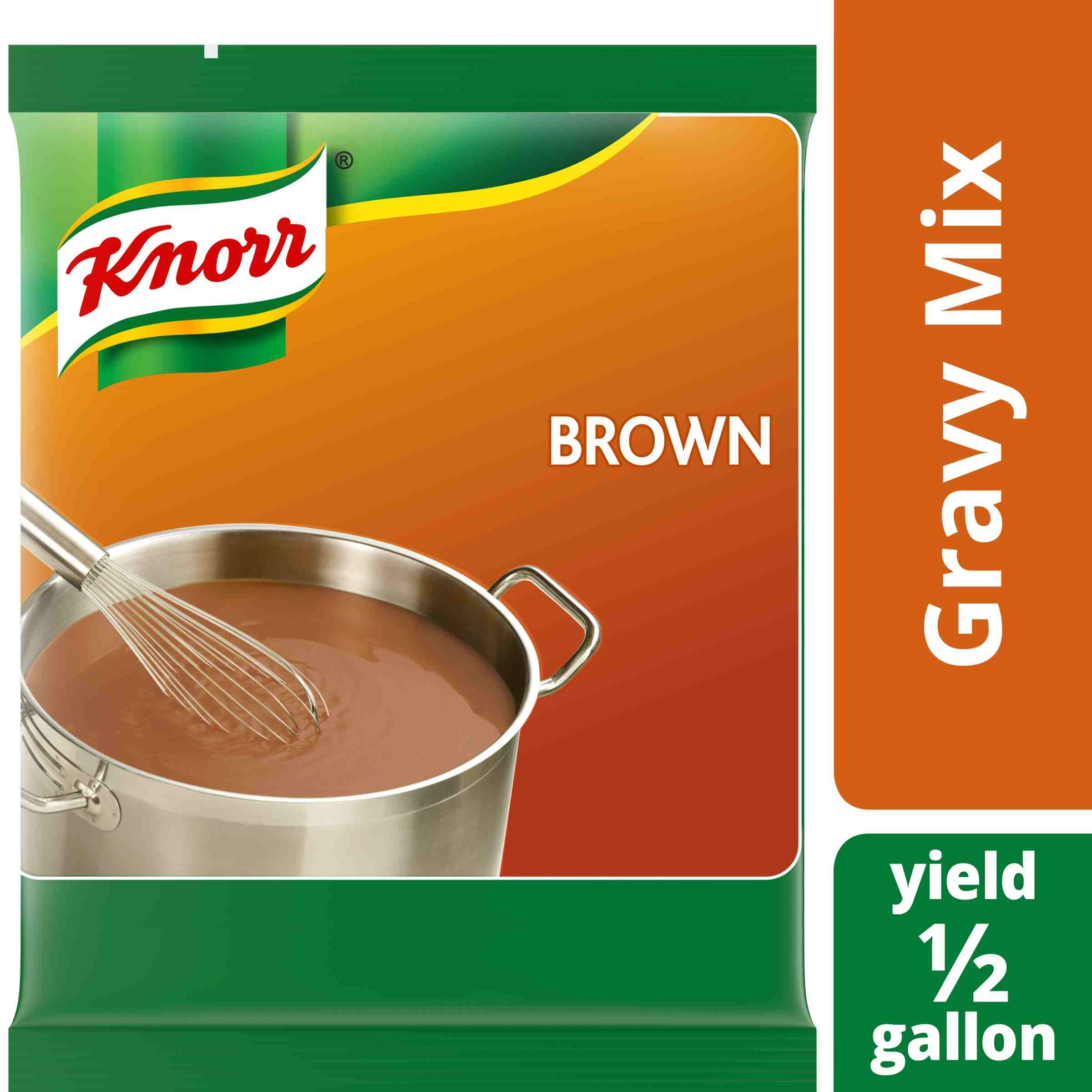 Knorr Professional Brown Gravy Mix Vegan, Gluten Free, No Artificial Flavors or Preservatives, No added MSG, Dairy Free,Colors from Natural Sources, 6.83 oz, Pack of 6 by Knorr