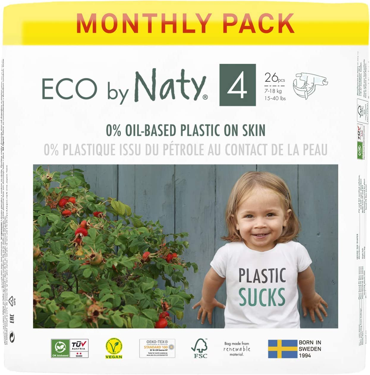 includes diapers size 1 and Unscented wipes Eco by Naty Diaper Bag Green Made of GOTS certified organic cotton Magnetic closure