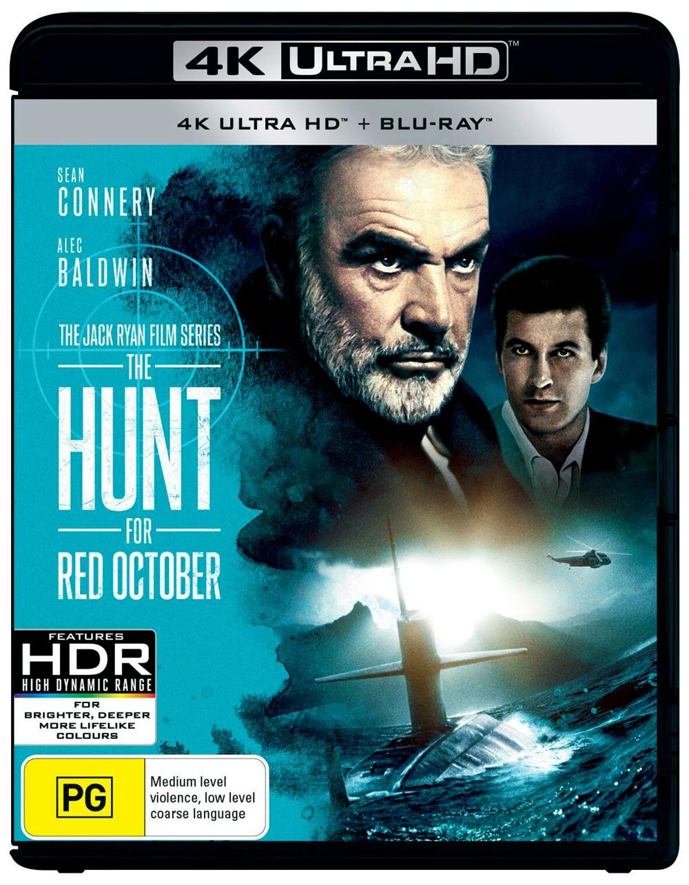 Amazon Com The Hunt For Red October 4k Uhd Blu Ray Sean Connery Non Usa Format Region B Import Australia Sean Connery Alec Baldwin Scott Glenn James Earl Jones John