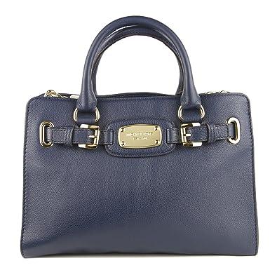 58a5a8f16e5f Amazon.com  Michael Kors Leather Hamilton Large EW Tote Handbag Shoulder Bag  Blue  Shoes
