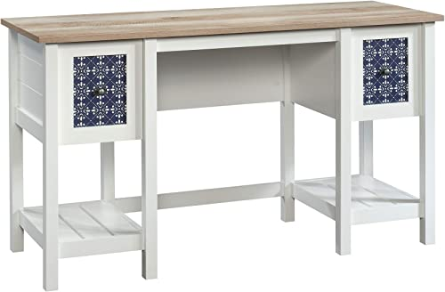 Nexera Liber-T 3 Drawer Computer Desk in White and Walnut