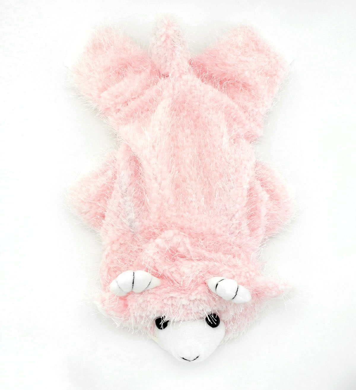 SELMAI Goat Animal Dog Halloween Costumes Hooded Dog Coat Jumpsuit Small Puppy Pet Cat Warm Clothes Pink M