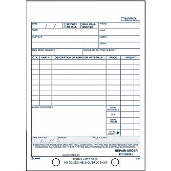 Amazon.com : TOPS 3868 Snap-Off Job Work Order Form, 5 2/3\