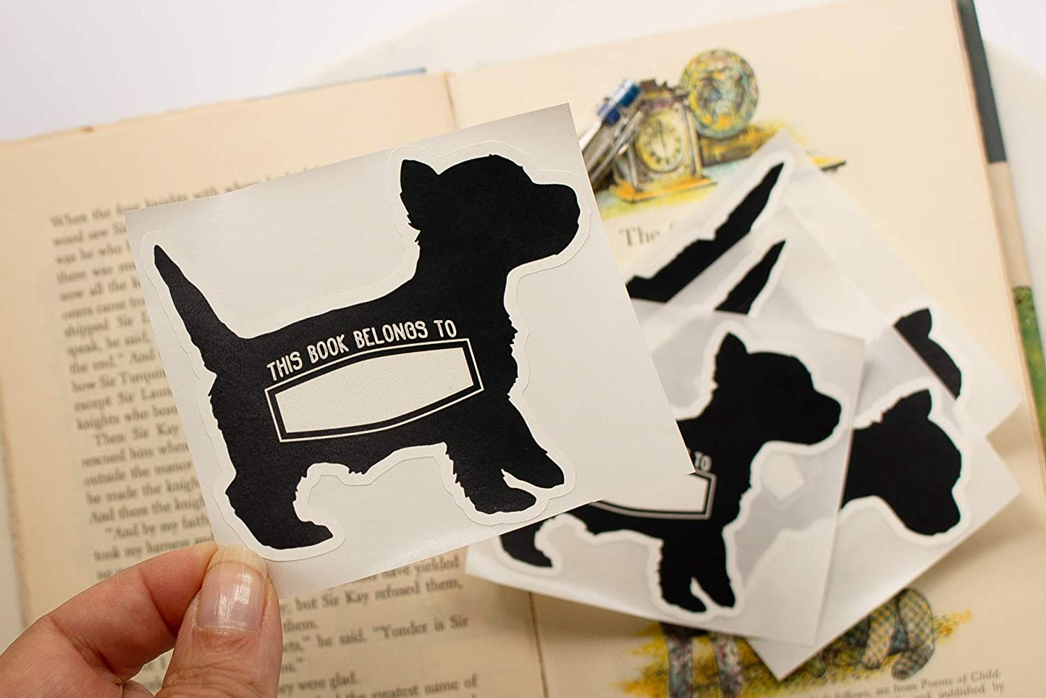 Puppy Bookplates Personalized Dog Book Plate Stickers for Kids Set of 10