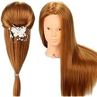 Neverland Têtes d'exercice 80% Vrais Cheveux coiffure Artificiel Coiffure Mannequin pour le Salon Coiffeur Poupée avec Support #27