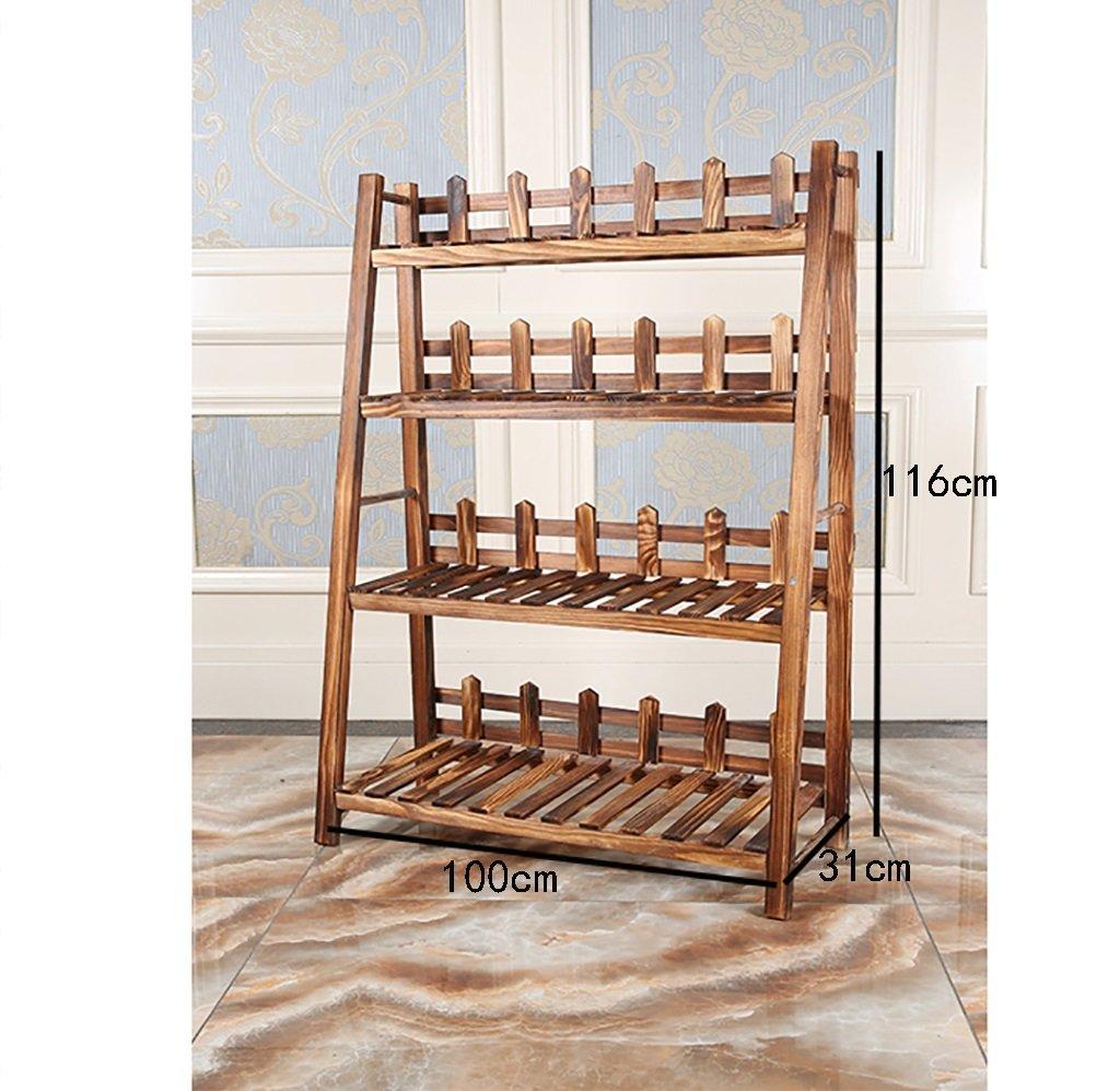 bellissimo Flower stand Landing simple indoor Multilayer Soggiorno in in in legno massello balcone Flower stand (dimensioni   B6)  sport caldi