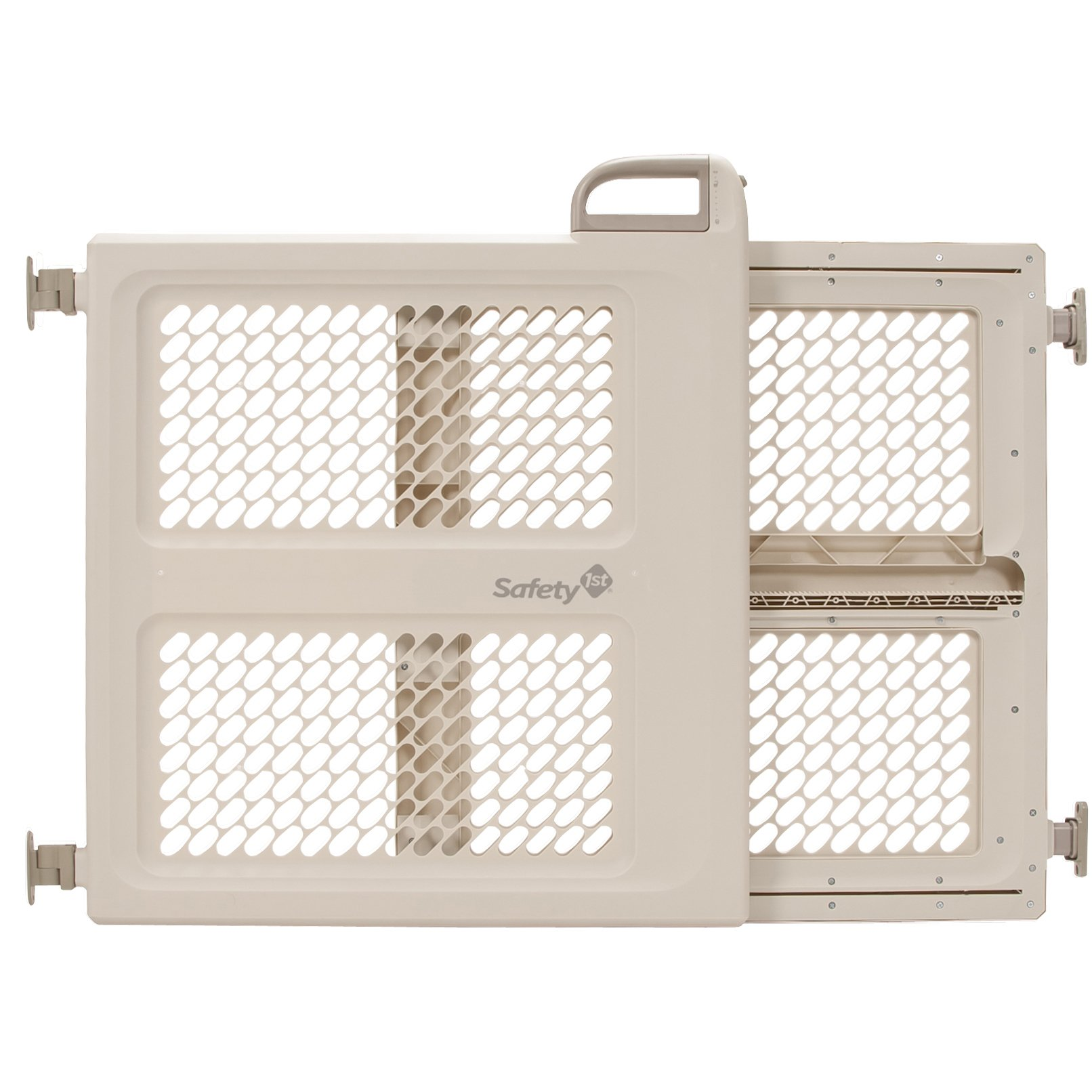 """Safety 1st Pressure Mount Lift, Lock and Swing Gate, Fits Spaces between 28"""" and 42"""" Wide"""