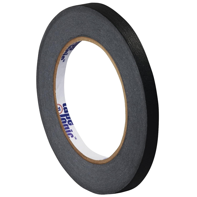 Tape Logic T931003B Masking Tape, 60 yds Length x 1/4 Width, Black (Case of 144) by Tape Logic B00DYAW21I