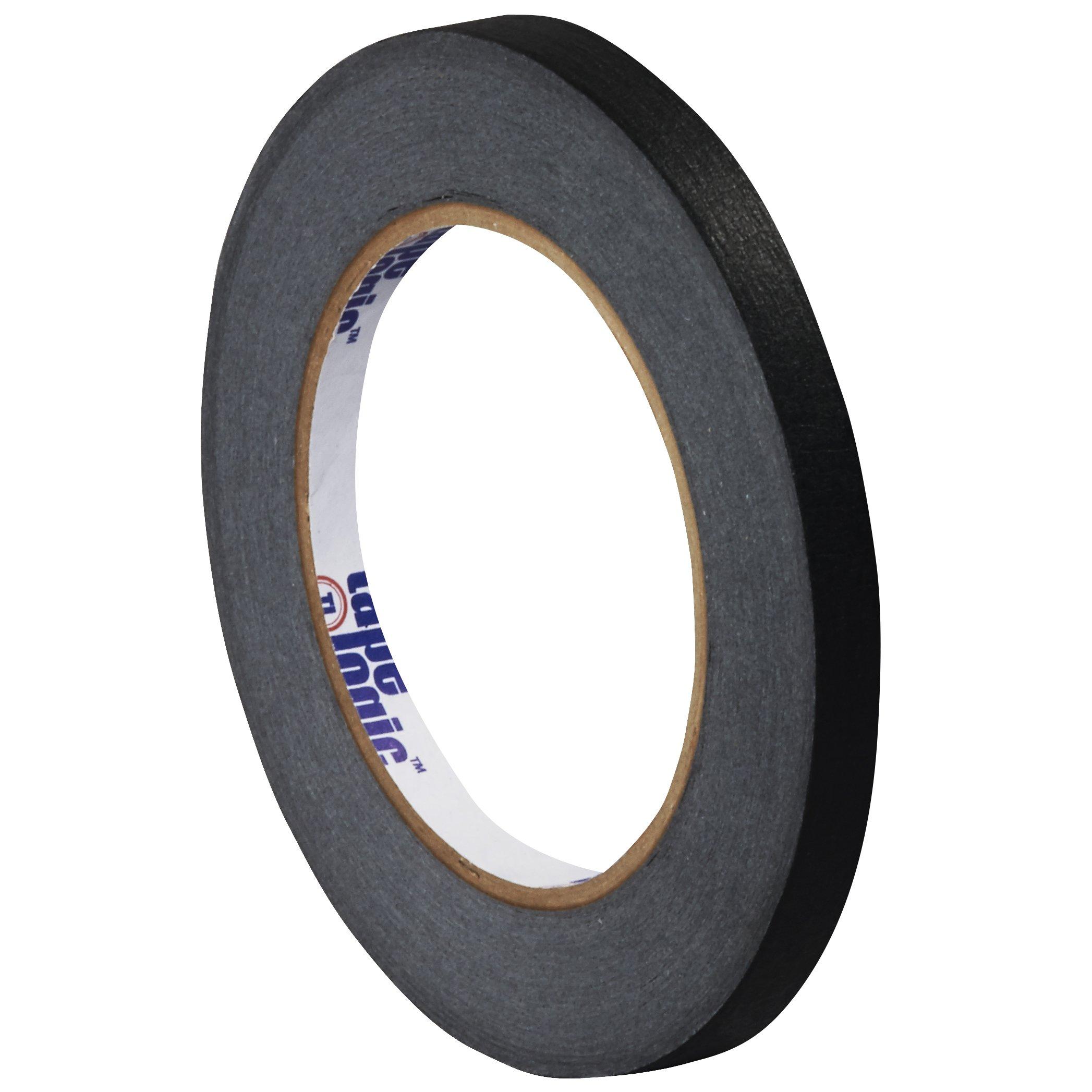 Tape Logic T93100312PKB Masking Tape, 60 yds Length x 1/4'' Width, Black (Case of 12)