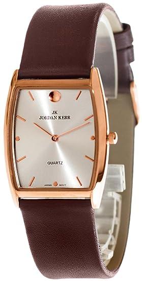 Reloj Jordan Kerr para Mujeres,Elegante Moderno, Correa con Cuero,Resistente al agua