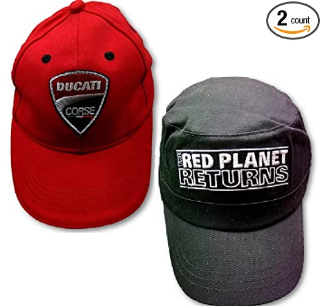 fe79bfc38d5444 Amazon.com: Ducati CapS X 2 Kids & Adult Red Planet WDW2010 Bike MotoGP  Corse: Sports & Outdoors