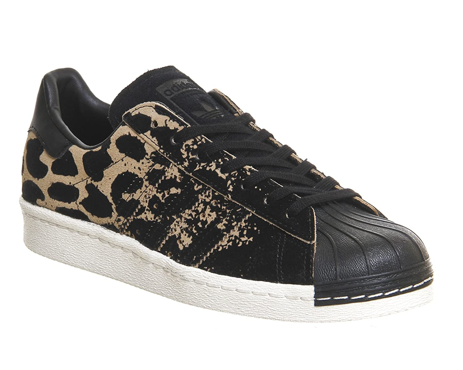 adidas Originals SUPERSTAR 80s W Chaussures Mode Sneakers Femme Noir Motif Leopard