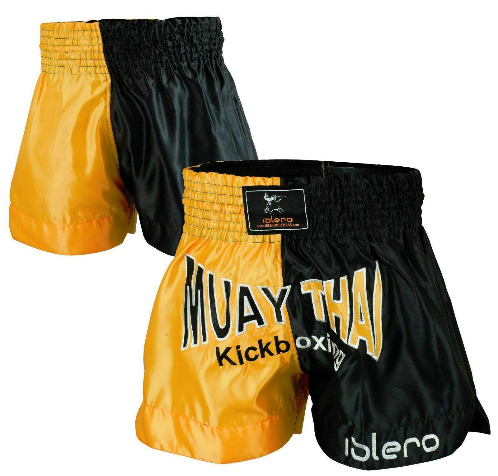 ISLERO Muay Thai Fight Shorts MMA Kick Boxing Grappling Martial Arts Gear UFC
