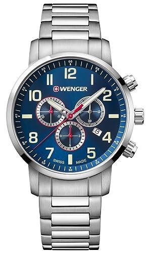 b0a5fb7b0f1c Wenger Attitude Chrono relojes hombre 01.1543.101  Wenger  Amazon.es   Relojes