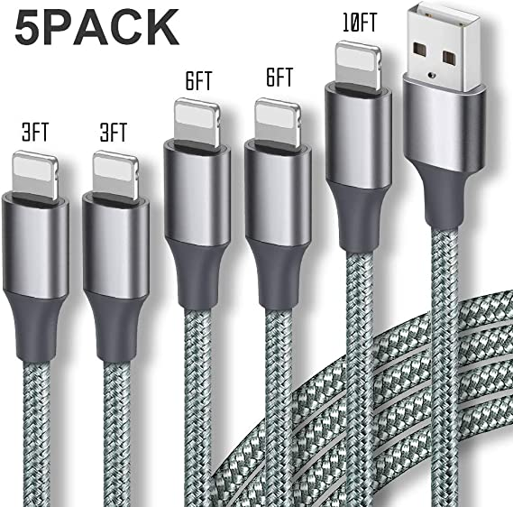 4 Pack 6FT Extra Long Nylon Braided USB Charging /& Syncing Cord Compatible iPhone Xs//Xs Max//XR//X//8//8 Plus//7//7 Plus//6S//6S Plus//SE//iPad//iPod V154 iPhone Charger,MFi Certified Lightning Cable