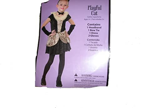Playful Cat Girls Halloween Costume Small 4-6